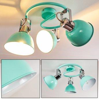 Dompierre Lámpara de Techo Verde, Blanca, 3 luces