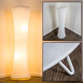 HERON Lámpara de Pie Blanca, 2 luces