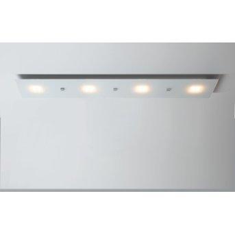 Escale Studio Lámpara de Techo LED Blanca, 4 luces