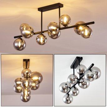 Chehalis Lámpara de Techo LED Negro, 9 luces