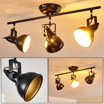 Lámpara de Techo Tina Negro, 3 luces