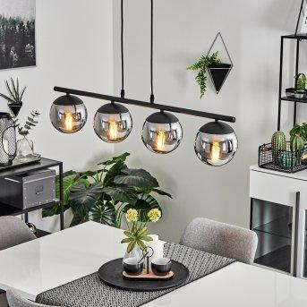 Agropoli Lámpara Colgante Negro, 4 luces