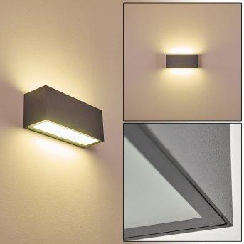 Aplique para exterior Spidern LED Antracita, 1 luz