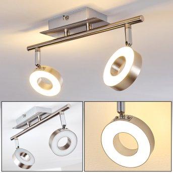 Russell Foco de techo LED Níquel-mate, Cromo, 2 luces