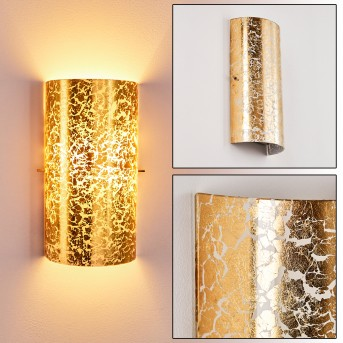 Modica Aplique dorado, 1 luz