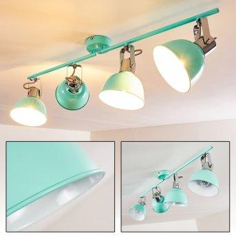 Dompierre Lámpara de Techo Verde, Blanca, 4 luces