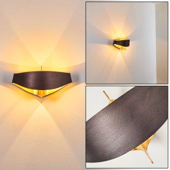 Padua Aplique Marrón, oro, 2 luces
