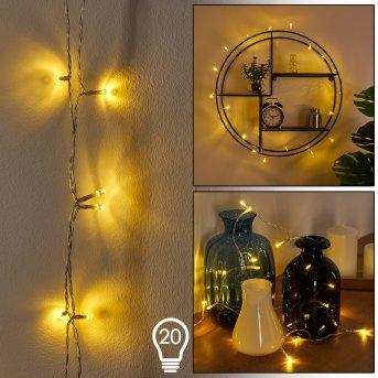 Sondrio Tira de luces LED Blanca, 20 luces