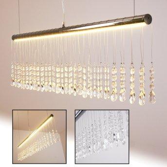 YORK Lámpara colgante LED Cromo, 1 luz