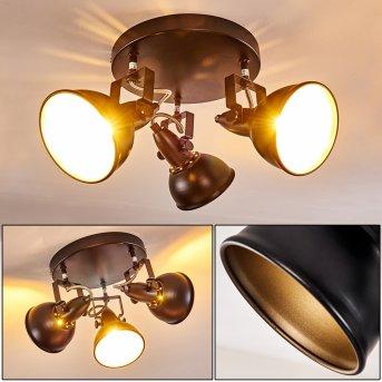 Tina Lámpara de Techo Negro, 3 luces