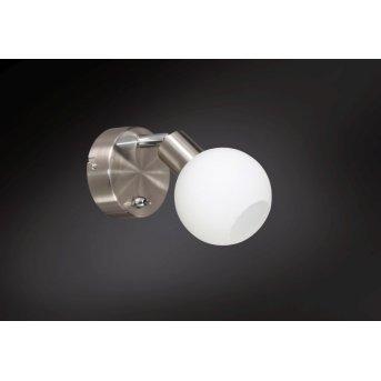 Wofi NOIS Aplique LED Níquel-mate, 1 luz