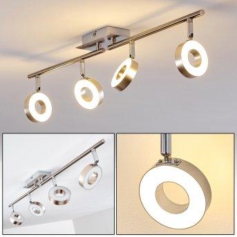 Sarnia Foco de techo LED Níquel-mate, Cromo, 4 luces