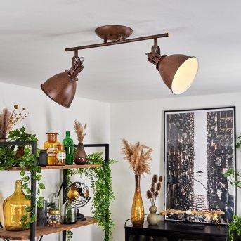 Koppom Lámpara de Techo Color óxido, 2 luces
