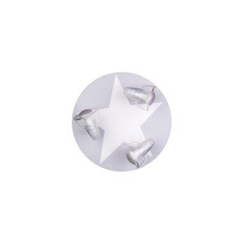 Waldi Stardel Lámpara de Techo Gris, Blanca, 3 luces