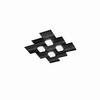Grossmann CREO Lámpara de Techo LED Negro, 4 luces