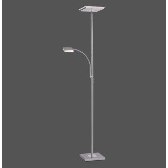 Leuchten Direkt HANS Lámpara de Pie LED Acero inoxidable, 2 luces