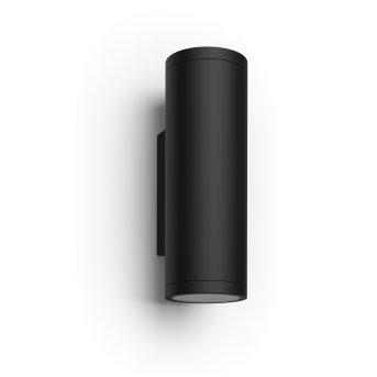 Philips Hue Ambiance White & Color Appear Aplique para exterior LED Negro, 2 luces, Cambia de color