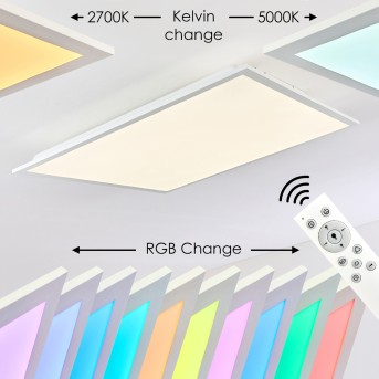 Antria Lámpara de Techo LED Blanca, 1 luz, Mando a distancia, Cambia de color