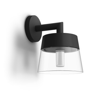 Philips Hue White & Color Ambiance Attract Aplique LED Negro, 1 luz