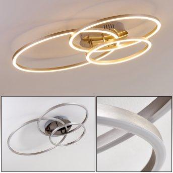 Chilkat Lámpara de Techo LED Níquel-mate, 1 luz