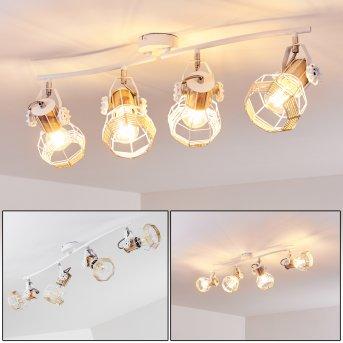 Barbacena Lámpara de Techo Blanca, 4 luces