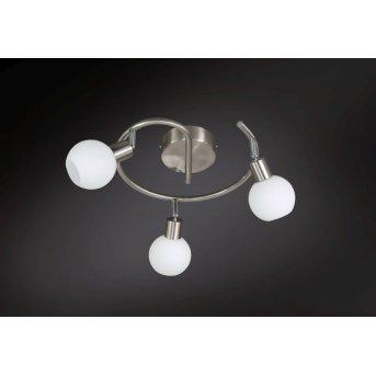 Wofi NOIS Lámpara de techo LED Níquel-mate, 3 luces
