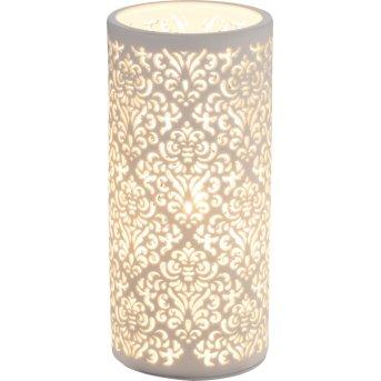 Globo CENDRES Lámpara de Mesa Blanca, 1 luz