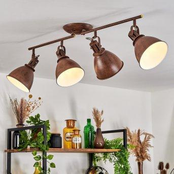 Koppom Lámpara de Techo Color óxido, 4 luces