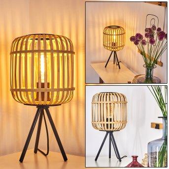 Sukhothai Lámpara de mesa Negro, 1 luz