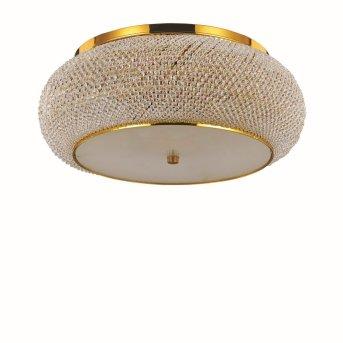 Ideal Lux PASHA Lámpara de Techo dorado, Aspecto de cristal, 10 luces