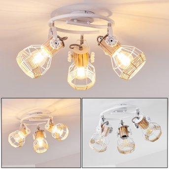 Barbacena Lámpara de Techo Blanca, 3 luces