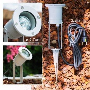 Pilsen Foco proyector jardin Plata, 1 luz