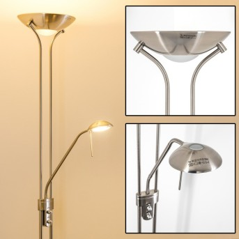 Rom Lámpara de pie LED Níquel-mate, 2 luces