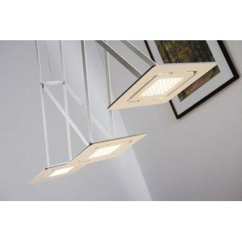 Eva Luz SLIDE Lámpara suspendida LED Blanca, 3 luces
