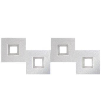 Grossmann KARREE Lámpara de Techo LED Aluminio, Titanio, 4 luces