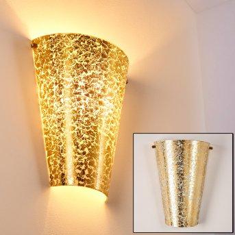 Zera Aplique dorado, 1 luz