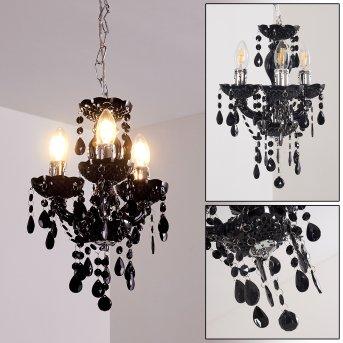 Malmback Lámpara de araña Negro, 3 luces
