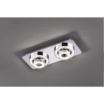 Leuchten Direkt TIM Lámpara de Techo LED Cromo, 2 luces