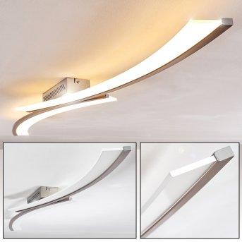 Orgia Lámpara de techo LED Níquel-mate, 1 luz