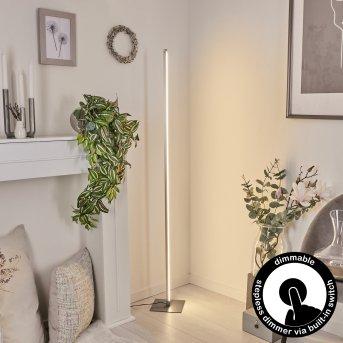Soyo Lámpara de Pie LED Níquel-mate, 1 luz