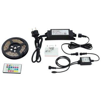 Eglo LED STRIPES-FLEX banda de luz Transparente, claro, 1 luz, Mando a distancia, Cambia de color