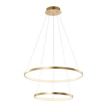 Lámpara Colgante Leuchten Direkt CIRCLE LED dorado, 1 luz
