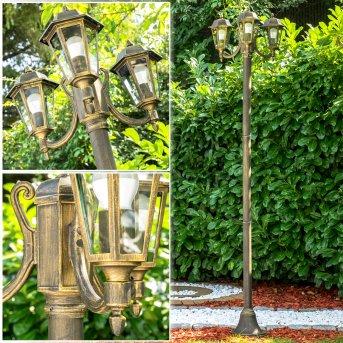 NATAL Candelabro Negro-dorado, 3 luces