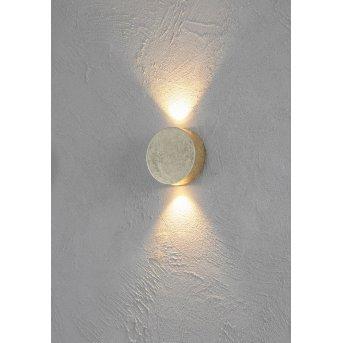 Escale SUN Aplique LED dorado, 2 luces