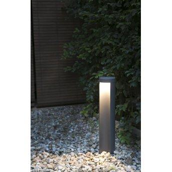 Faro Chandra Poste de jardin LED Antracita, 1 luz