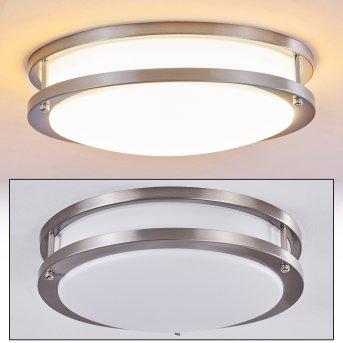 Sora Lámpara de Techo LED Níquel-mate, Blanca, 1 luz