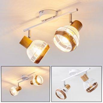 Bariloche Lámpara de Techo Cromo, Blanca, 2 luces