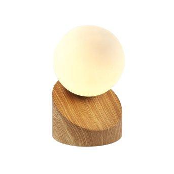 Nino Leuchten ALISA Lámpara de Mesa LED Madera clara, 1 luz