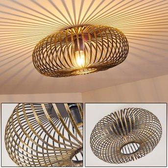 Oravi Lámpara de Techo Negro-dorado, 1 luz