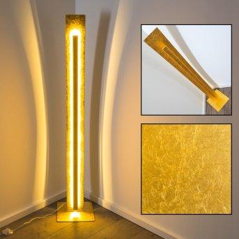 Petrolia Lámpara de pie LED dorado, 1 luz